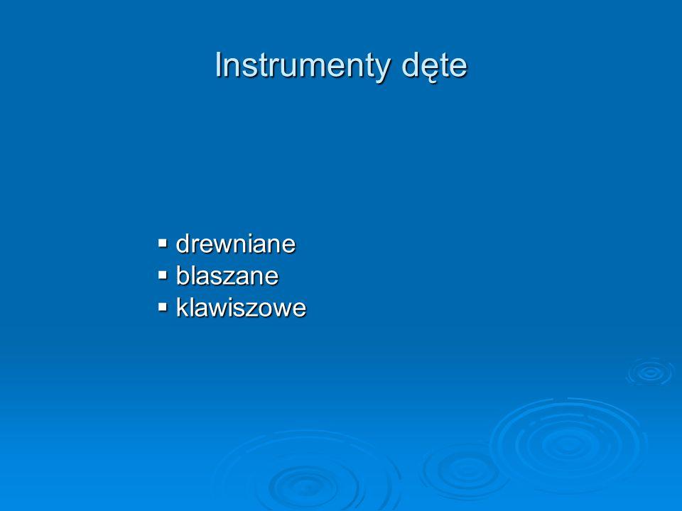 Instrumenty perkusyjne  idiofony  membrafony