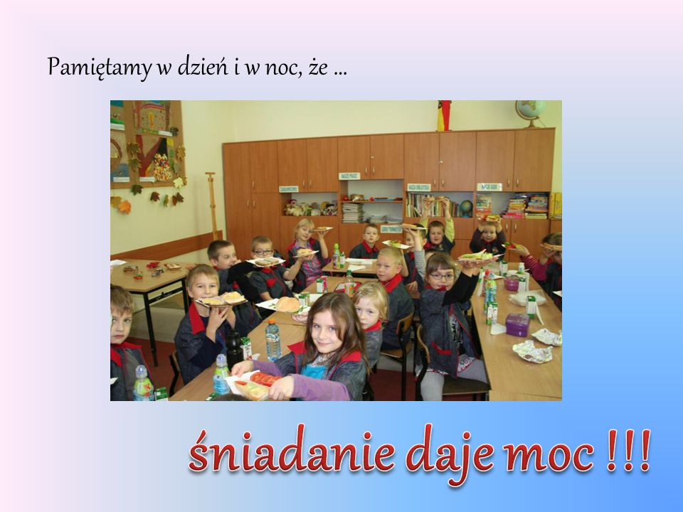 """Śniadanie przygotowali uczniowie klasy I """"g ze Szkoły Podstawowej nr 19 im."""