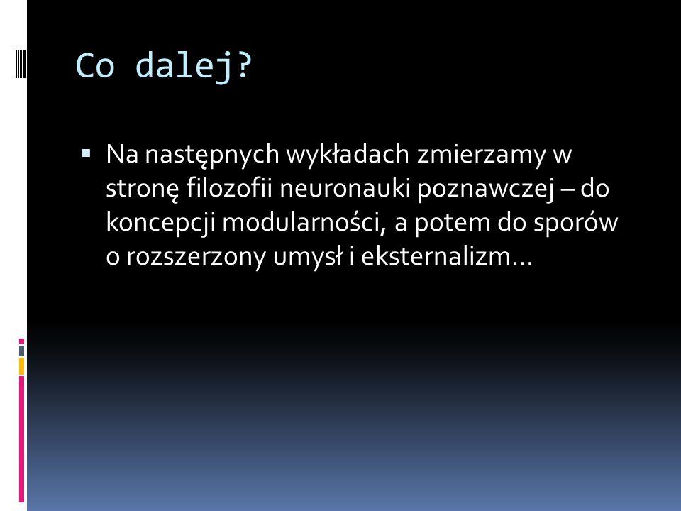 Dodatkowe lektury  Daniel Dennett, Słodkie sny, przeł.