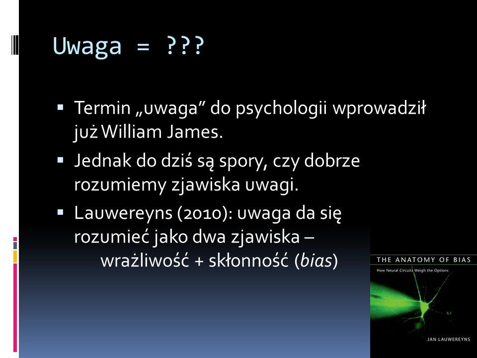 """Uwaga = ??. Termin """"uwaga do psychologii wprowadził już William James."""