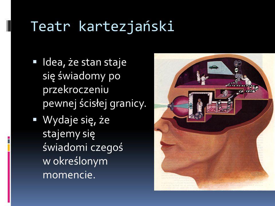 Teatr kartezjański  Koncepcja uwagi modulującej reprezentacje średniego poziomu to tylko jeden z przykładów.
