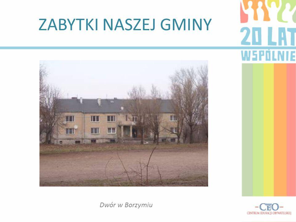ZABYTKI NASZEJ GMINY Dwór w Borzymiu