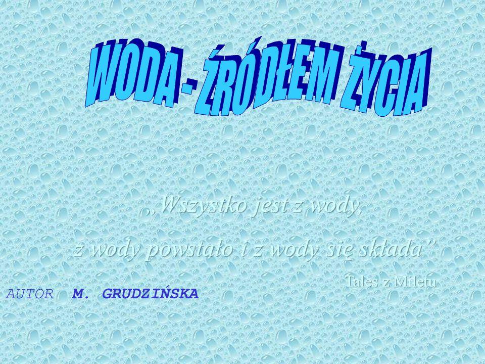 Czystość wód ma zasadniczy wpływ na zdrowie i kondycję ludzi, zwierząt oraz rozwój roślin.Konieczne jest więc oczyszczanie wód naturalnych.