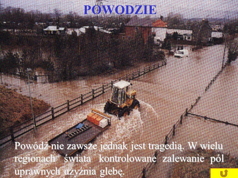 Długotrwałe ulewne deszcze mogą spowodować wystąpienie rzek z brzegów, co może pociągnąć za sobą ofiary w ludziach.POWODZIE