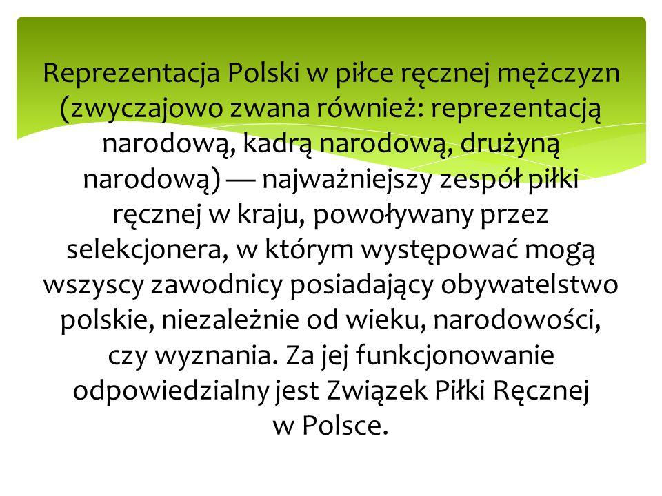 Mistrzostwa Europy: Debiut w finałach ME: 25 stycznia 2002 Polska – Czechy 24:25 Szwecja 2002 Pierwsze zwycięstwo w finałach ME: 26 stycznia 2006 Polska – Ukraina 33:24 Szwajcaria 2006 Najwyższe zwycięstwo w finałach ME: 17 stycznia 2012 Polska – Słowacja 41:24 Serbia 2012 Najwyższa porażka w finałach ME: 1 lutego 2006 Polska – Francja 21:31 Szwajcaria 2006 oraz 23 stycznia 2008 Polska – Dania 26:36 Norwegia 2008