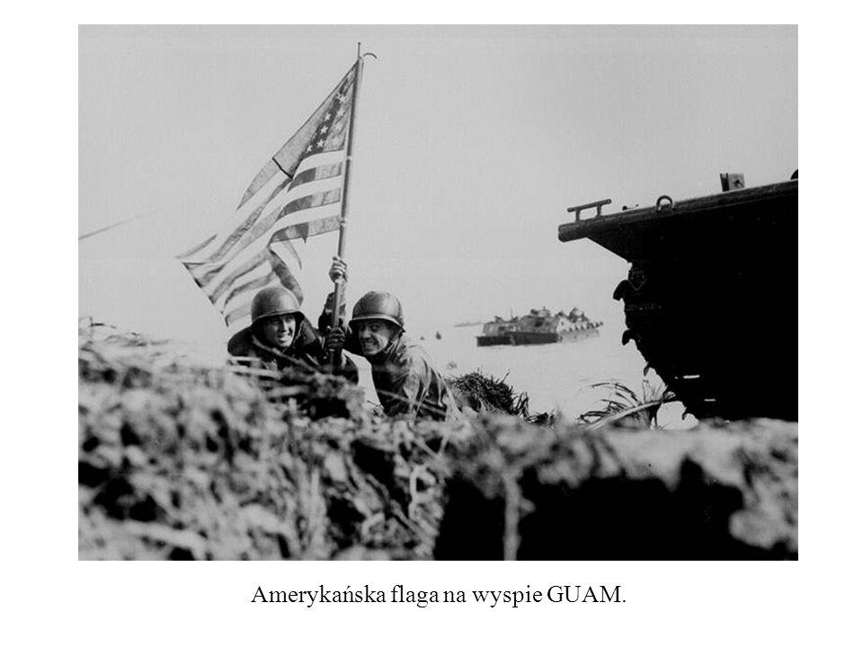 Amerykańska flaga na wyspie GUAM.