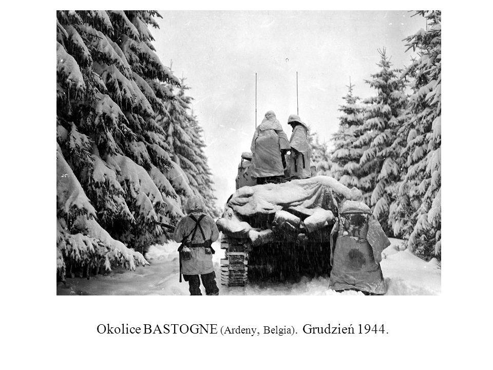 Okolice BASTOGNE (Ardeny, Belgia). Grudzień 1944.