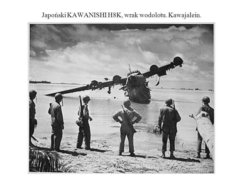 Japoński KAWANISHI H8K, wrak wodolotu. Kawajalein.