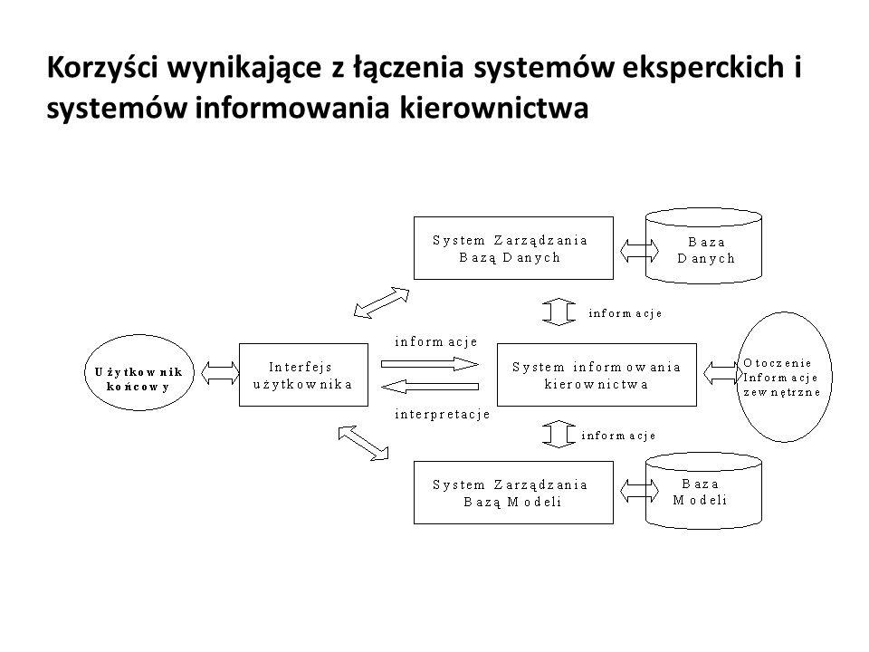 Korzyści wynikające z łączenia systemów eksperckich i systemów informowania kierownictwa