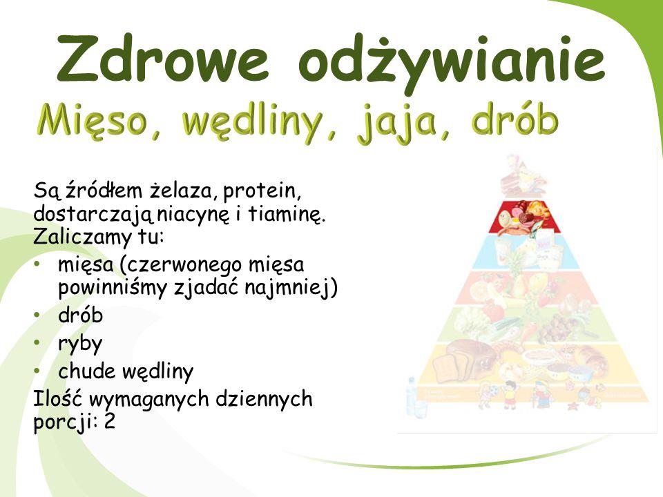Zdrowe odżywianie Produkty tej grupy znajdują się na najwyższym piętrze piramidy, tzn.