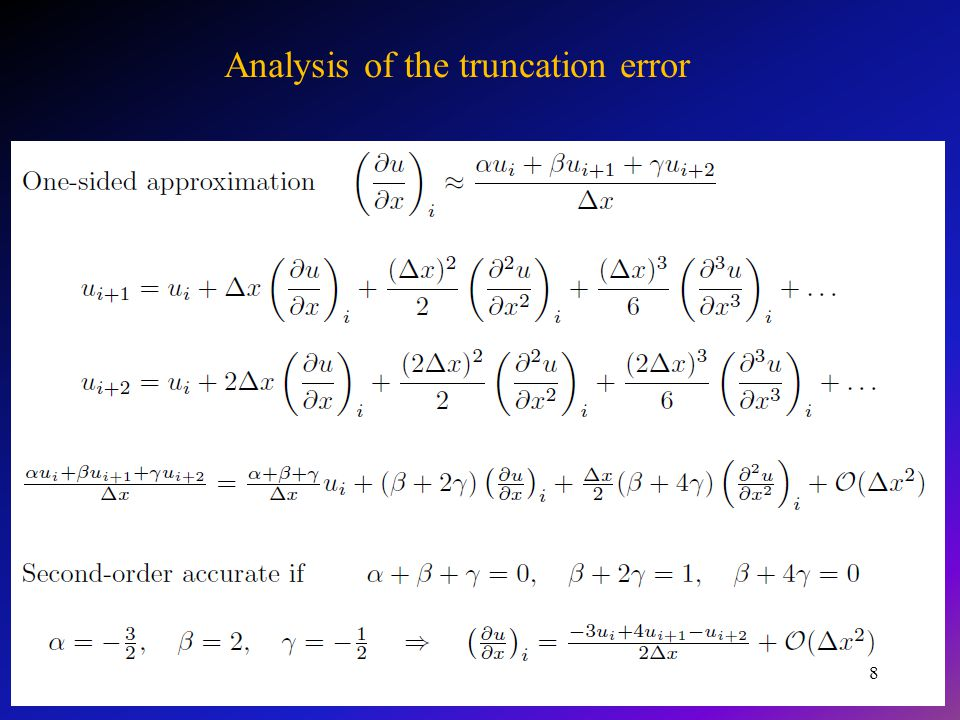 Application to second-order derivatives 9