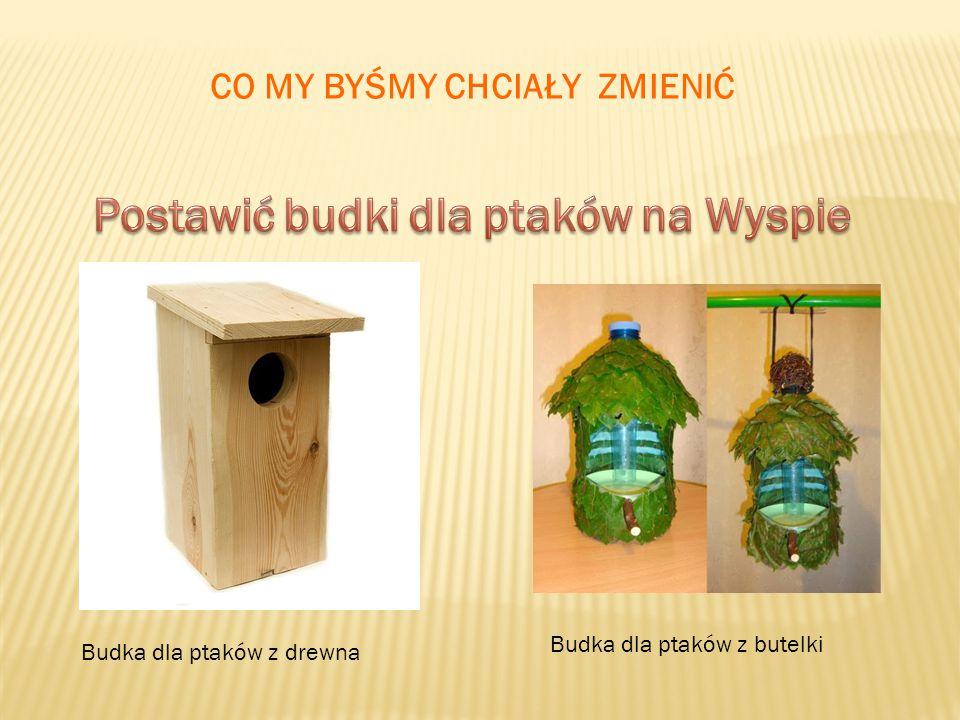 CO MY BYŚMY CHCIAŁY ZMIENIĆ Budka dla ptaków z drewna Budka dla ptaków z butelki
