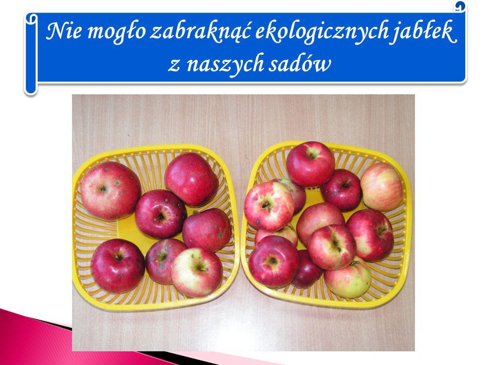 Nie mogło zabraknąć ekologicznych jabłek z naszych sadów