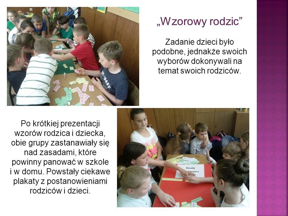Prace zespołowe pomogły ustalić pewne zasady współpracy uczniów, rodziców i wychowawcy klasy.