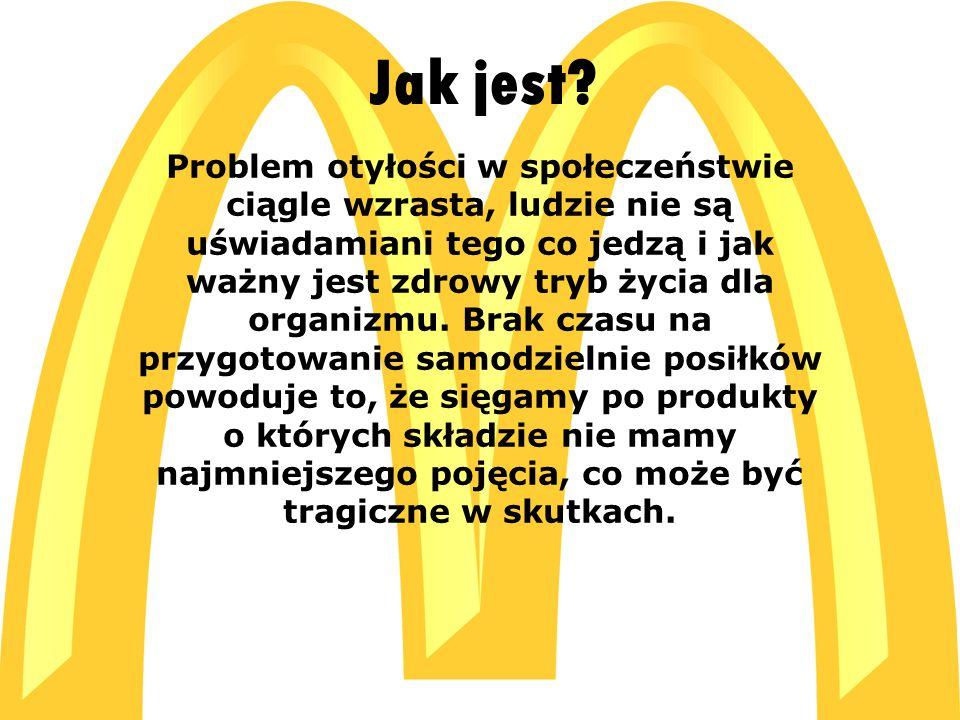  C:\Users\ADMIN\Desktop\McDonald s_logo[1].jpg C:\Users\ADMIN\Desktop\McDonald s_logo[1].jpg Problem otyłości w społeczeństwie ciągle wzrasta, ludzie nie są uświadamiani tego co jedzą i jak ważny jest zdrowy tryb życia dla organizmu.