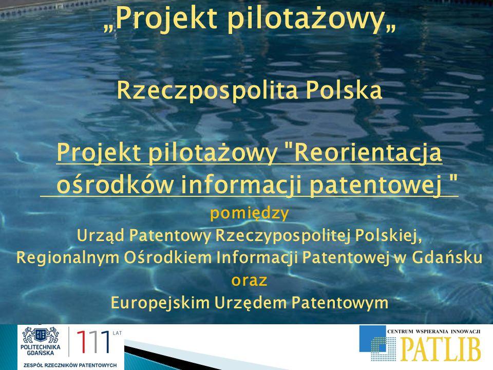 """""""Projekt pilotażowy"""" Rzeczpospolita Polska Projekt pilotażowy"""