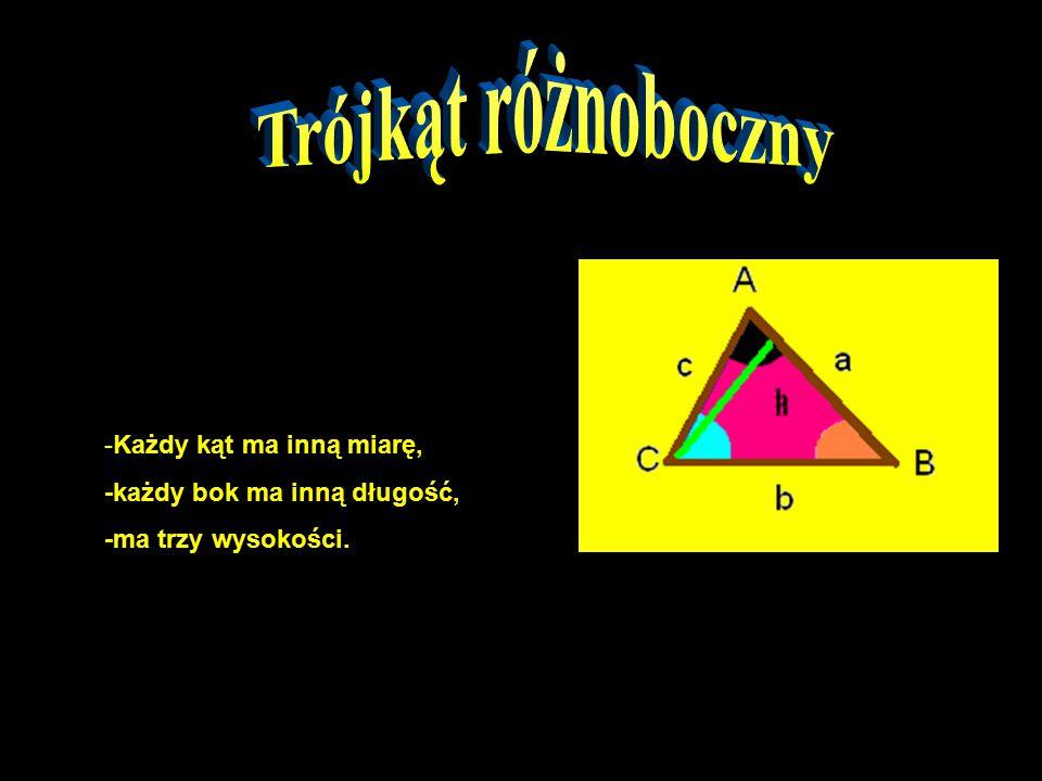 4. Oblicz pole trójkąta równobocznego o boku 4 cm i wysokości 2,5 cm. Odp. 5