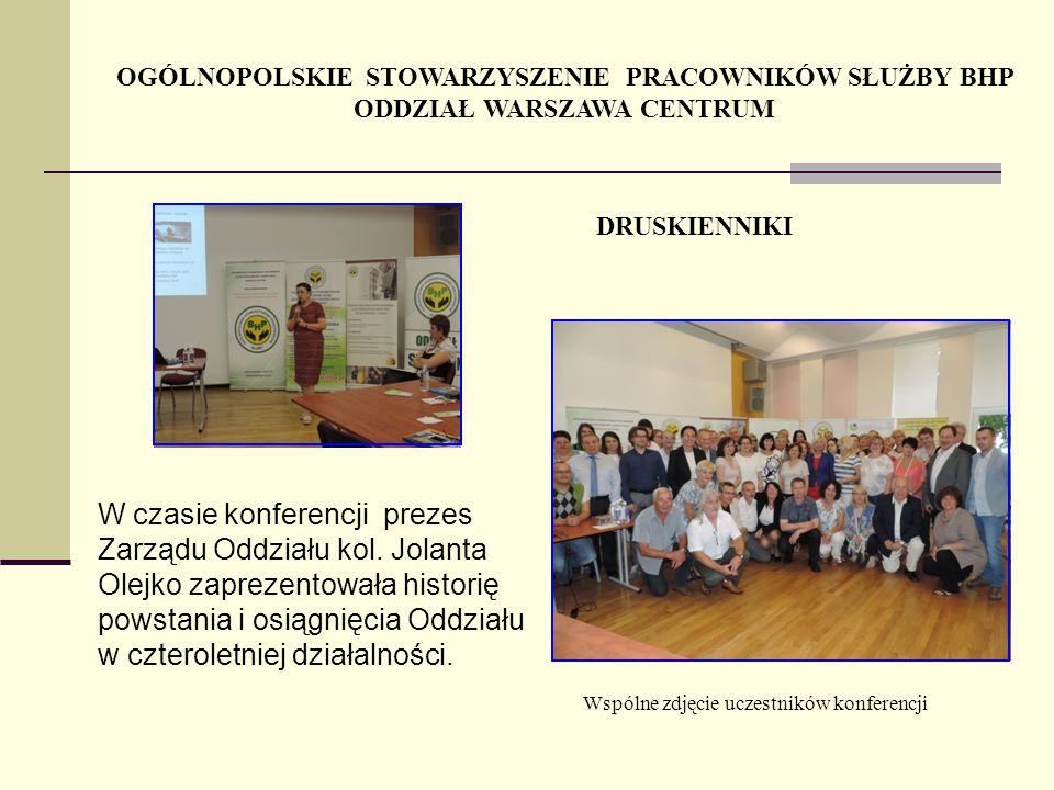 W czasie konferencji prezes Zarządu Oddziału kol. Jolanta Olejko zaprezentowała historię powstania i osiągnięcia Oddziału w czteroletniej działalności