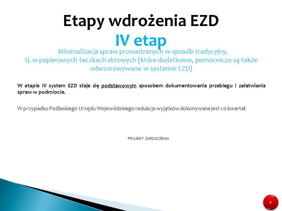 Sprawy prowadzone elektronicznie EZD 1.
