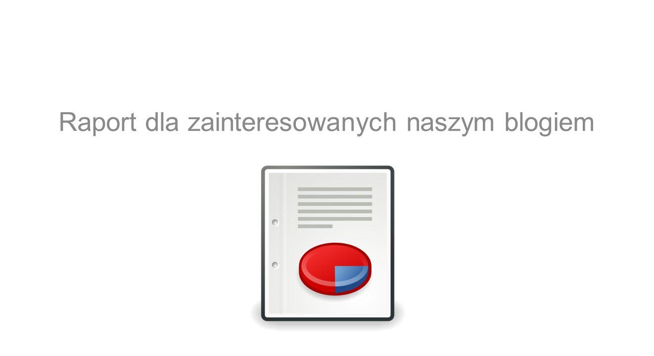 Raport dla zainteresowanych naszym blogiem