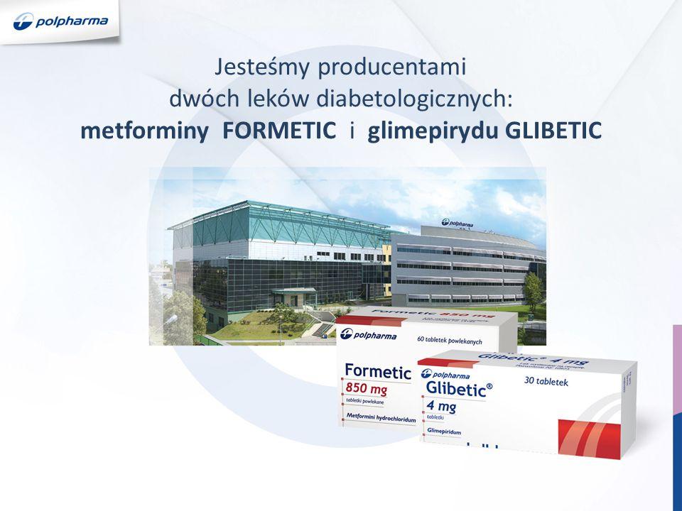 Jesteśmy producentami dwóch leków diabetologicznych: metforminy FORMETIC i glimepirydu GLIBETIC