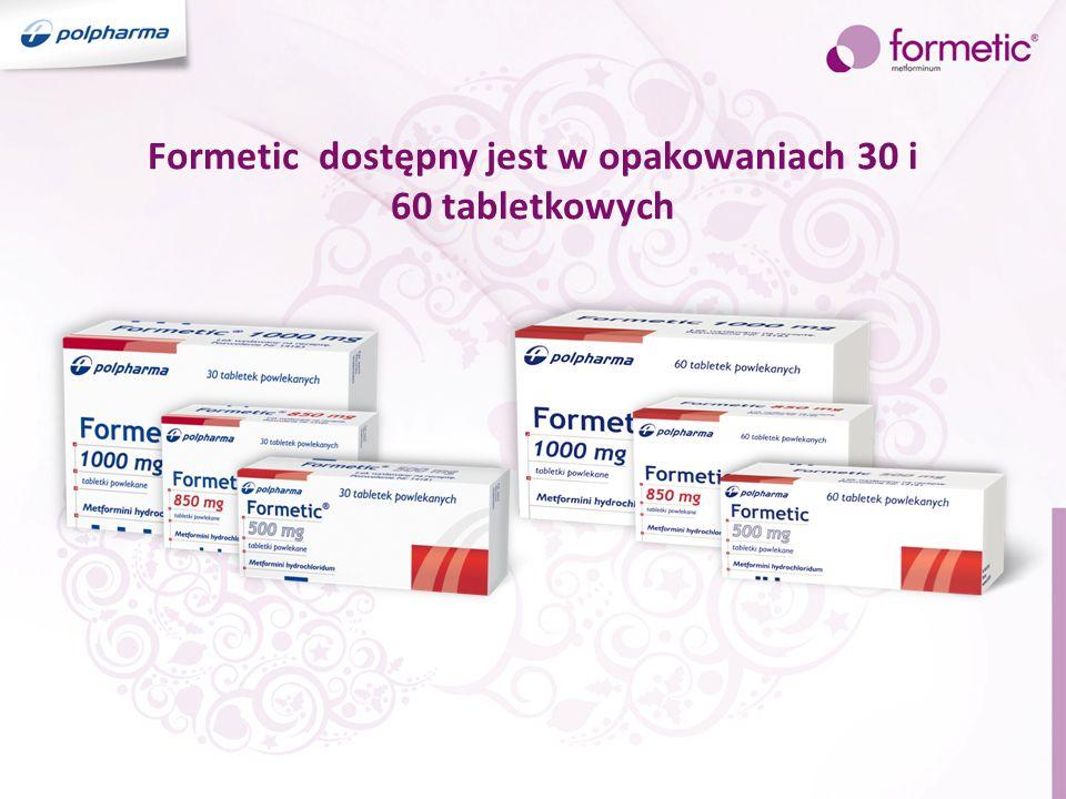 Formetic dostępny jest w opakowaniach 30 i 60 tabletkowych