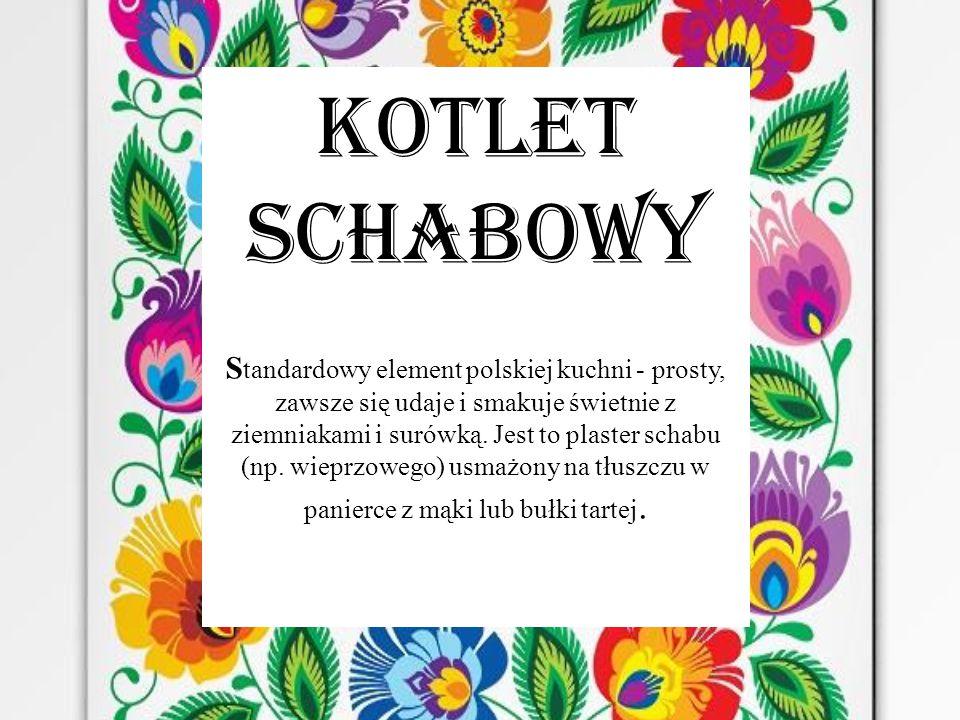 KOTLET SCHABOWY S tandardowy element polskiej kuchni - prosty, zawsze się udaje i smakuje świetnie z ziemniakami i surówką.