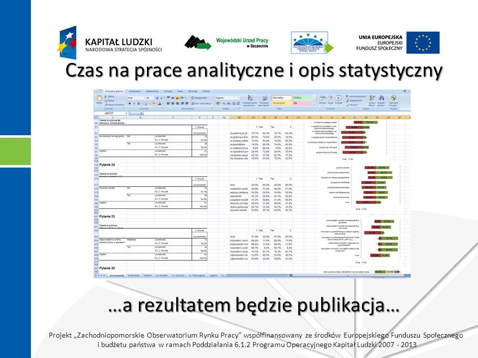 """Projekt """"Zachodniopomorskie Obserwatorium Rynku Pracy współfinansowany ze środków Europejskiego Funduszu Społecznego i budżetu państwa w ramach Poddziałania 6.1.2 Programu Operacyjnego Kapitał Ludzki 2007 - 2013 Publikacja recenzowana Publikacja I kwartał 2011 r."""
