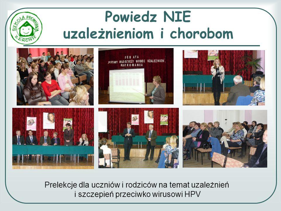 Powiedz NIE uzależnieniom i chorobom Prelekcje dla uczniów i rodziców na temat uzależnień i szczepień przeciwko wirusowi HPV