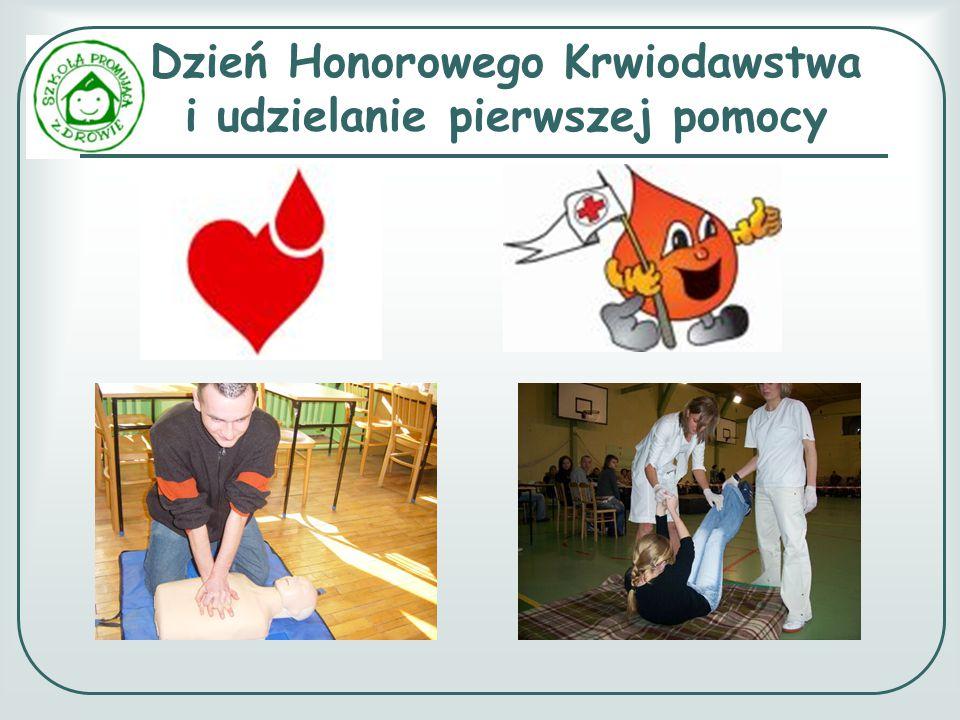 Dzień Honorowego Krwiodawstwa i udzielanie pierwszej pomocy