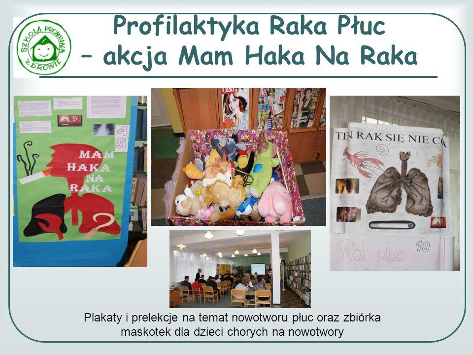 Profilaktyka Raka Płuc – akcja Mam Haka Na Raka Plakaty i prelekcje na temat nowotworu płuc oraz zbiórka maskotek dla dzieci chorych na nowotwory