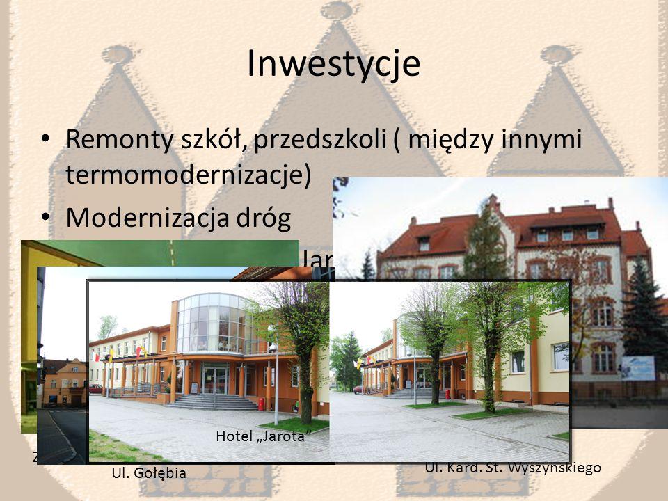 Inwestycje Odnowa naszych zabytków oraz innych obiektów publicznych częściowo sfinansowana przez gminę sprawiają, że nasze miasto jest coraz piękniejsze.