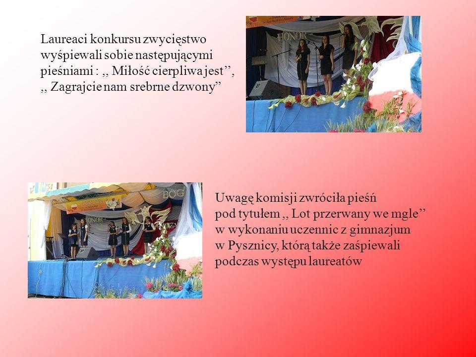 Uczniowie naszej szkoły podczas występu ( III miejsce w konkursie) Pozostali wyróżnieni PG Janów LubelskiPSP w Pysznicy