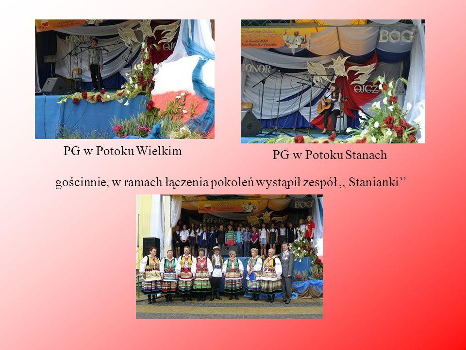 PG w Potoku Wielkim PG w Potoku Stanach gościnnie, w ramach łączenia pokoleń wystąpił zespół,, Stanianki''