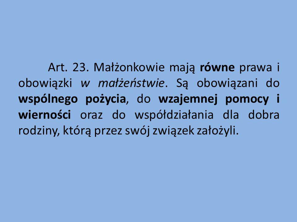 Ratio legis art. 23.