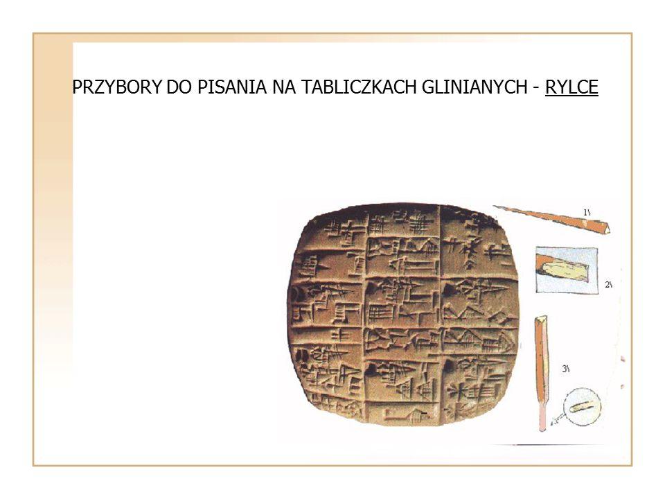 BABILONIA TABLICZKI GLINIANE Z PISMEM KLINOWYM