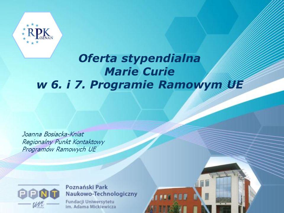 Marie Curie Conferences & Training Courses Marie Curie Conferences & Training Courses Konferencje i kursy szkoleniowe Finansowani uczestnicy -Początkujący naukowcy (do 4 lat doświadczeń) -Jeśli zostaną miejsca to bardziej doświadczeni (do 10 lat) -Reintegracja – naukowcy pochodzący z Europy, ale pracujący poza nią dla podtrzymania kontaktów Koszty uprawnionych uczestników -Rzeczywiste koszty utrzymania na miejscu (do 150 euro na dzień) -Rzeczywiste koszty podróży (max.