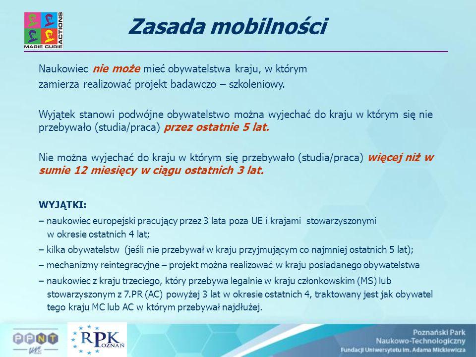 Oferty stypendialne Marie Curie w 7.