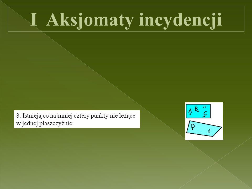 II Aksjomaty uporządkowania 1.