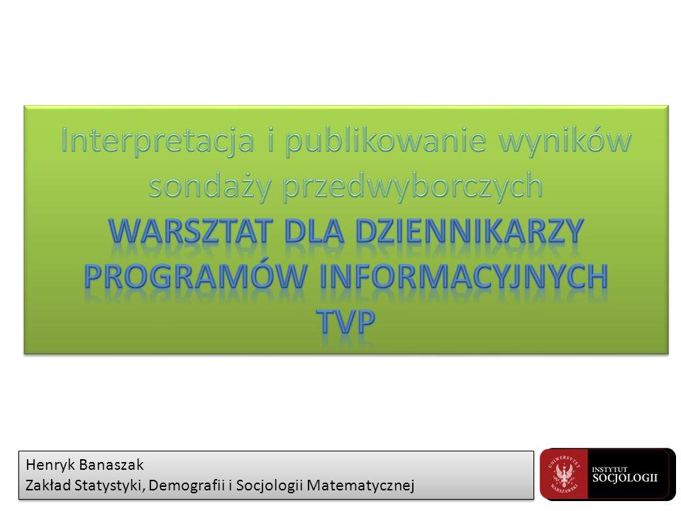 Henryk Banaszak Zakład Statystyki, Demografii i Socjologii Matematycznej Henryk Banaszak Zakład Statystyki, Demografii i Socjologii Matematycznej