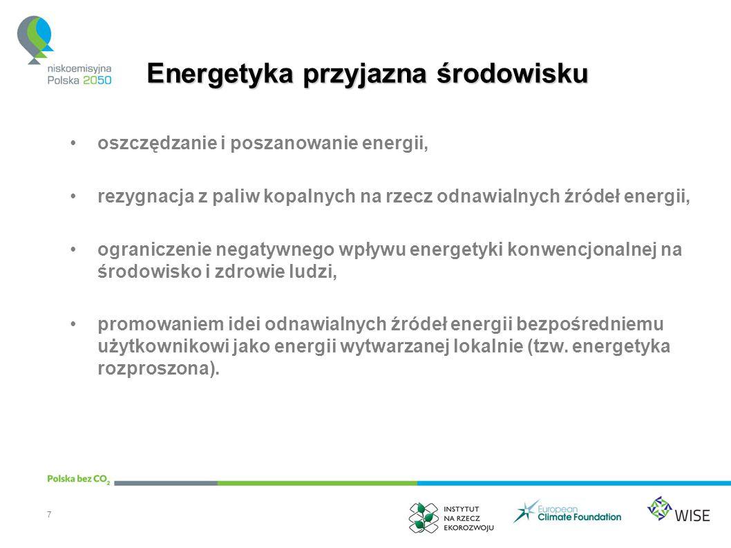 Zatrudnienie w wybranych łańcuchach wartości w energetyce odnawialnej 8 Łańcuch wartościRodzaj zatrudnienia Produkcja urządzeń i ich dystrybucja (energetyka wiatrowa) Inżynierowie ds.