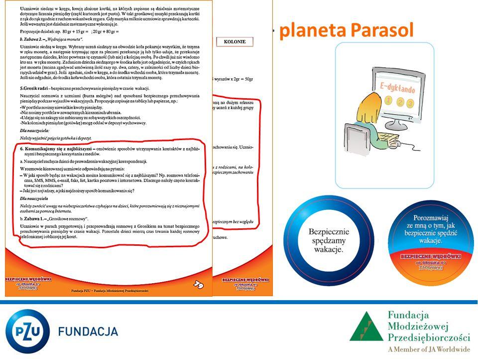 W scenariuszach zajęć – planeta Parasol
