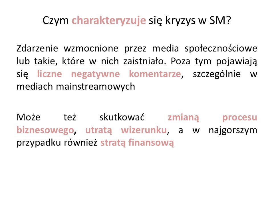Czym charakteryzuje się kryzys w SM.