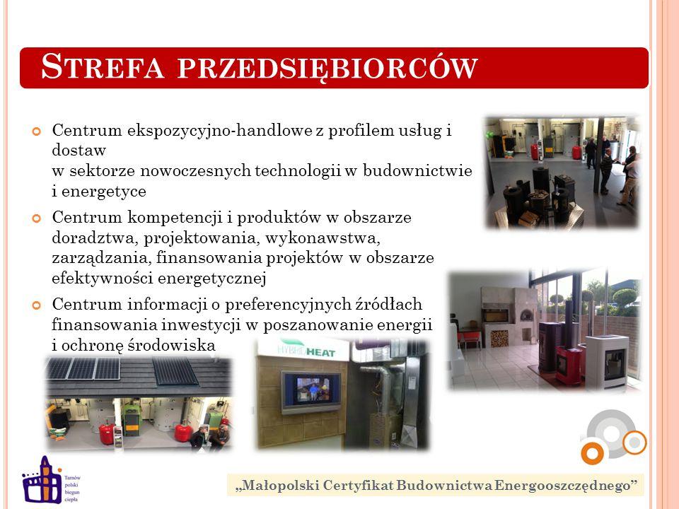 S TREFA PRZEDSIĘBIORCÓW Centrum ekspozycyjno-handlowe z profilem usług i dostaw w sektorze nowoczesnych technologii w budownictwie i energetyce Centru