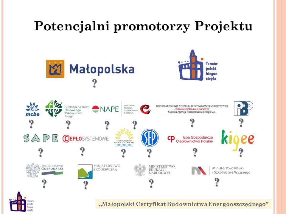 """Potencjalni promotorzy Projektu """"Małopolski Certyfikat Budownictwa Energooszczędnego"""" ? ? ? ? ? ? ? ? ? ? ? ? ? ? ? ? ?"""