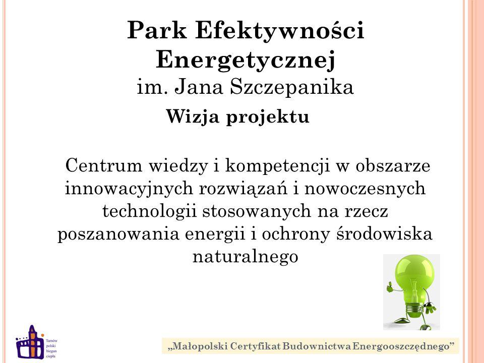 Wizja projektu Centrum wiedzy i kompetencji w obszarze innowacyjnych rozwiązań i nowoczesnych technologii stosowanych na rzecz poszanowania energii i ochrony środowiska naturalnego Park Efektywności Energetycznej im.
