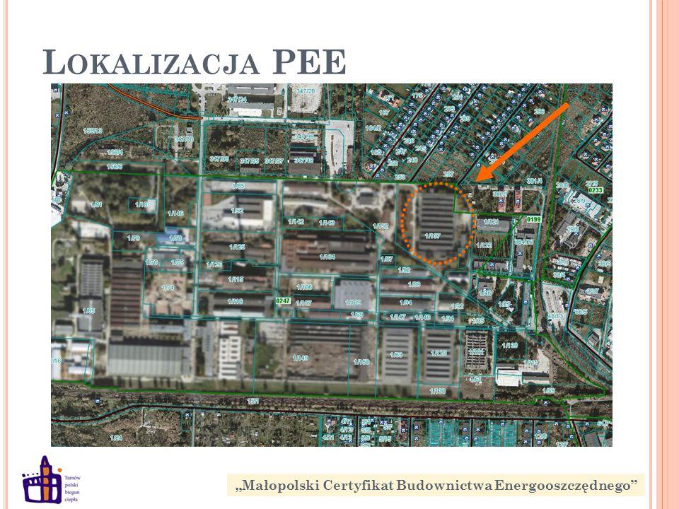"""L OKALIZACJA PEE """"Małopolski Certyfikat Budownictwa Energooszczędnego"""