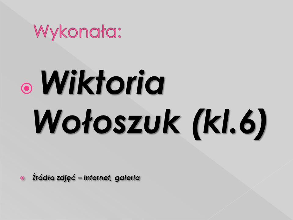 Wiktoria Wołoszuk (kl.6)  Wiktoria Wołoszuk (kl.6)  Źródło zdjęć – Internet, galeria