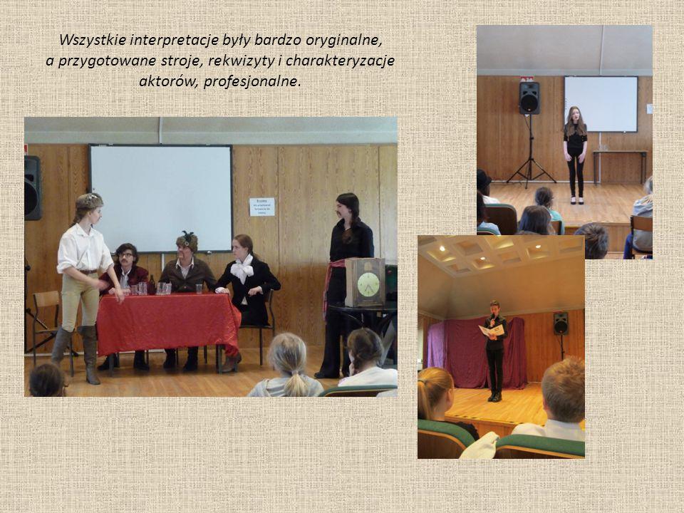 Uczniowie klasy II liceum przygotowali inscenizację fragmentu III cz.
