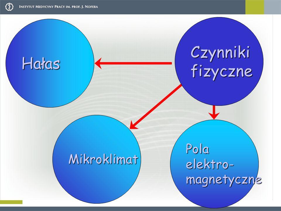 Hałas Czynnikifizyczne Mikroklimat Polaelektro-magnetyczne